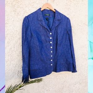 Ralph Lauren 💙 Vintage blue linen jacket
